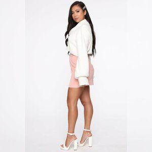 Never Alone Corduroy Mini Skirt - Blush